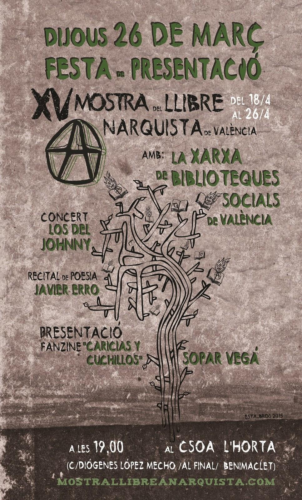 Presentació XV Mostra del Llibre Anarquista de València